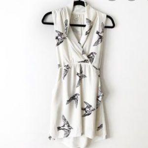 Aritzia Wilfred Sabine dress bird print in xs